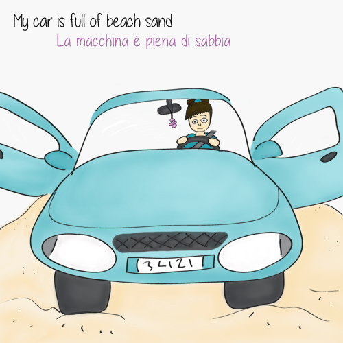 The car is full of sand