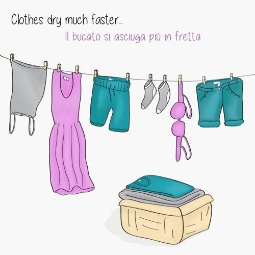 Clothes dry much faster